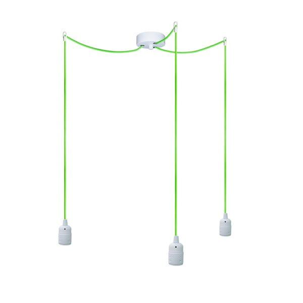 Tri závesné káble Uno, zelený/biely