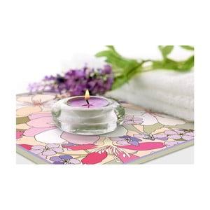 Set 2 prestierání Purple Flowers, 20x20 cm