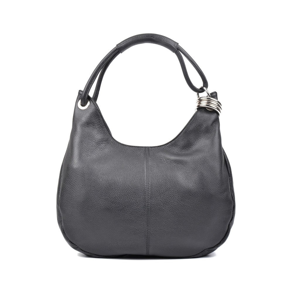 Čierna kožená kabelka Isabella Rhea no. 1022 ce901da6f55