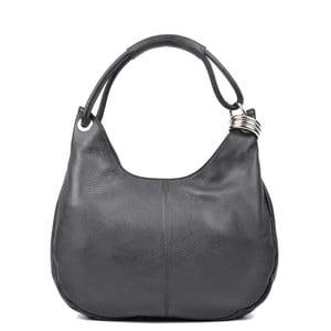 Čierna kožená kabelka Carla Ferreri no. 1022