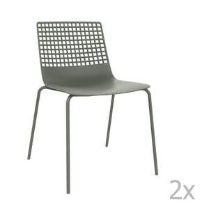 Sada 2 sivých záhradných stoličiek Resol Wire