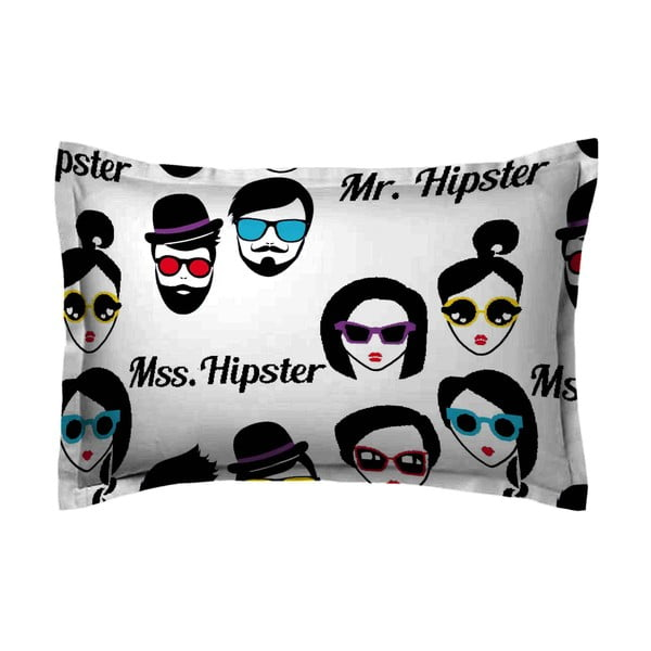 Obliečka na vankúš Hipster Face, 70x90 cm