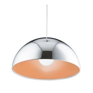 Stropné svietidlo Searchlight Domas, chromovaná/oranžová