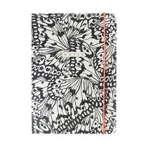 Zápisník A5 Portico Designs Butterfly, 160stránok