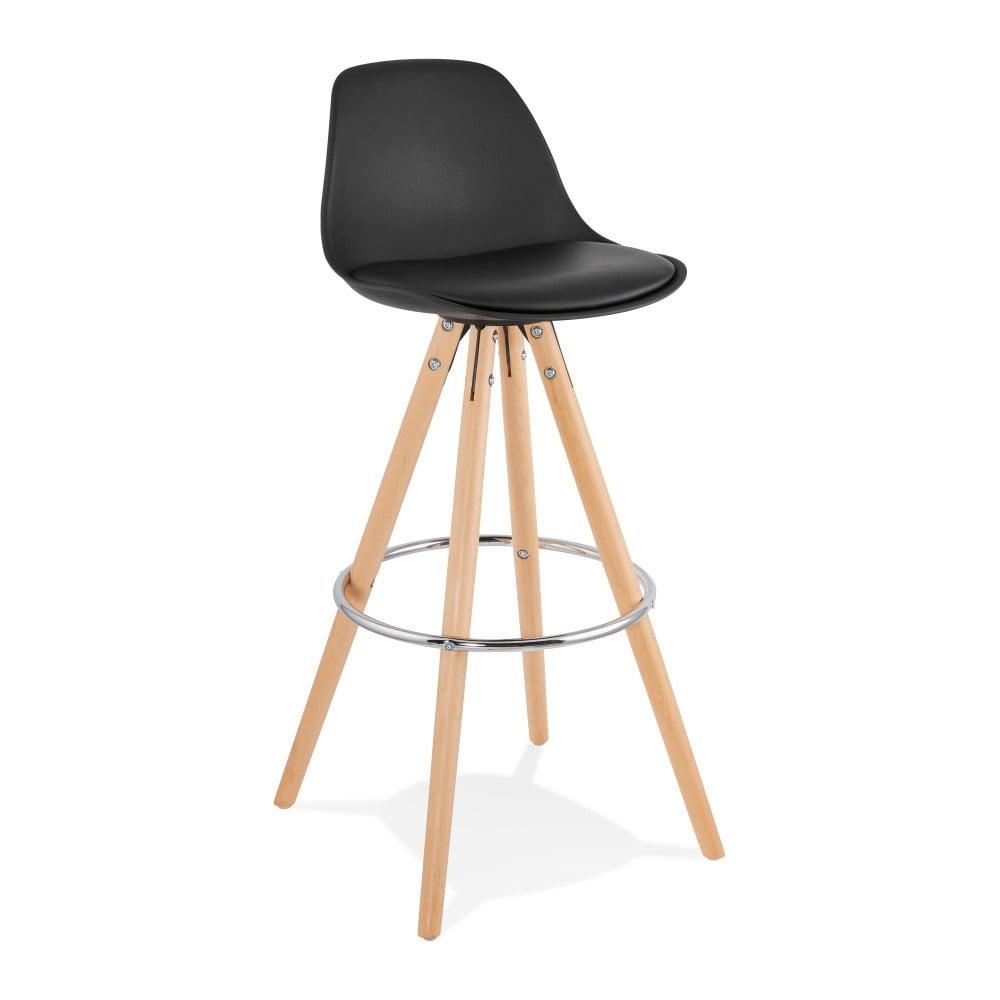 Čierna barová stolička Kokoon Anau, výška 74 cm