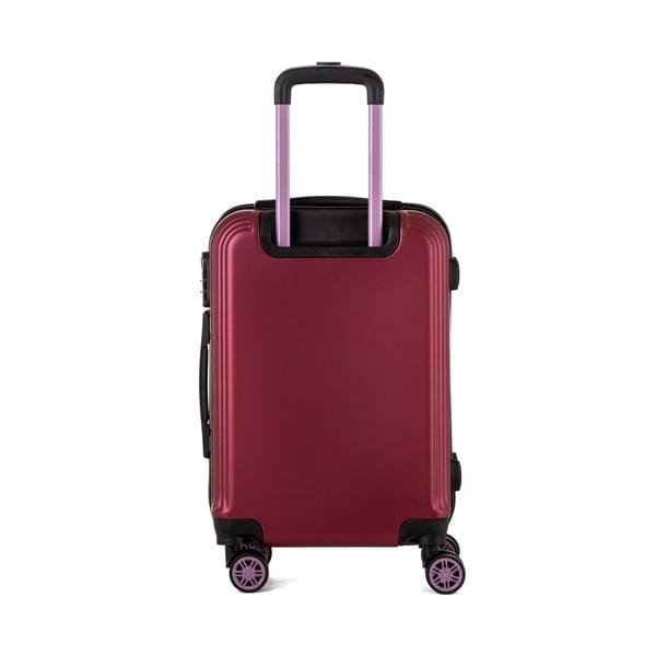 Červený cestovný kufor Berenice Wingy, 44 l
