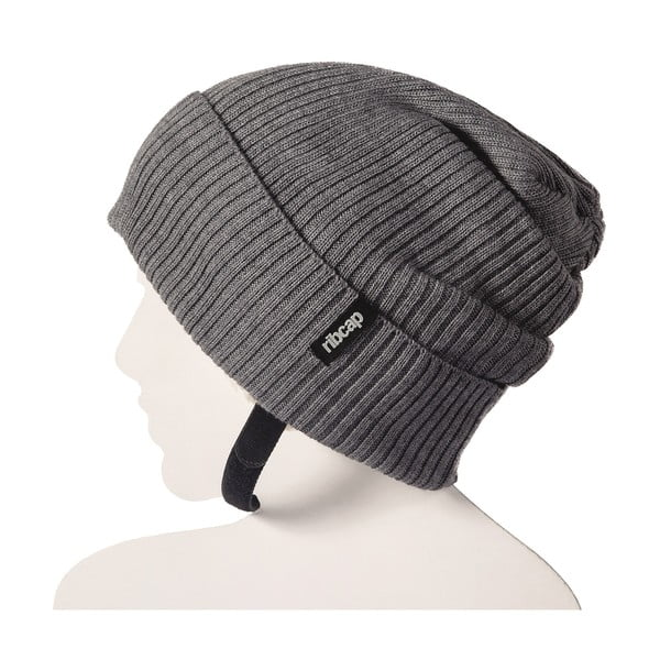Sivá čapica s ochrannými prvkami Ribcap Lenny, veľ. S