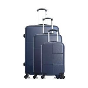 Sada 3 modrých cestovných kufrov na kolieskach Hero Coronado