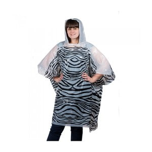 Pončo Emergency Rain, zebra