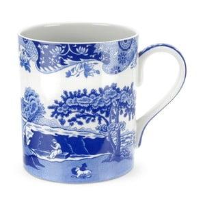Sada 4 bielo-modrých porcelánových hrnčekov Spode Blue Italian, 500 ml