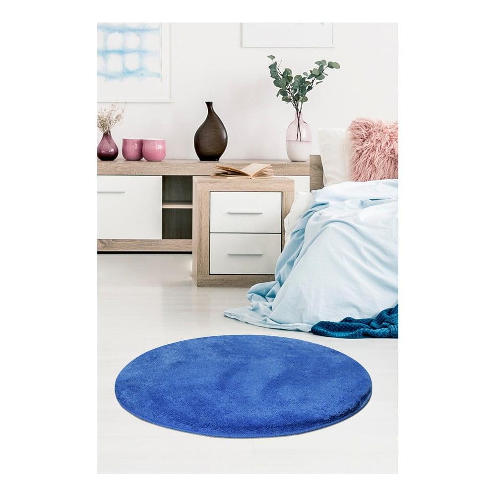 Modrý koberec Milano, ⌀ 90 cm