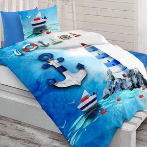 Sada posteľnej bielizne zo 100% ranforce bavlny Charlot Marin