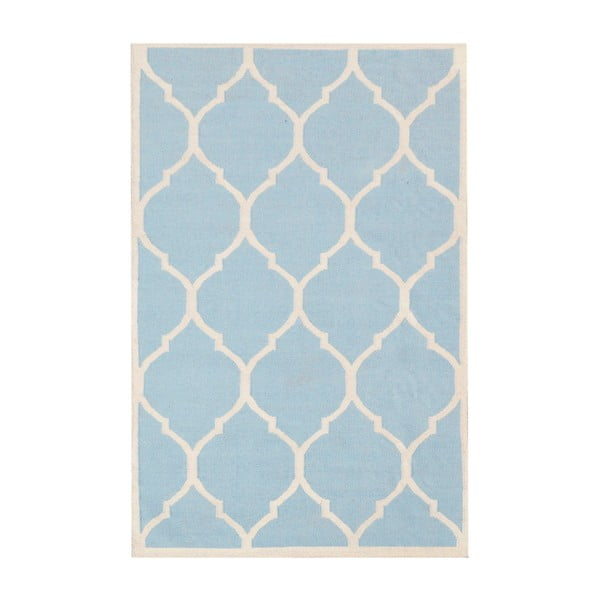 Ručne tkaný koberec Lara Light Blue, 140 x 200 cm