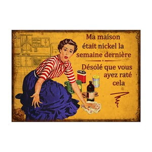 Kovová ceduľa Antic Line Maison Michel, 21 x 15 cm