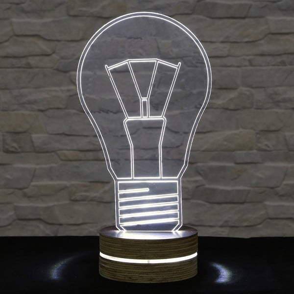 3D stolová lampa Bulb