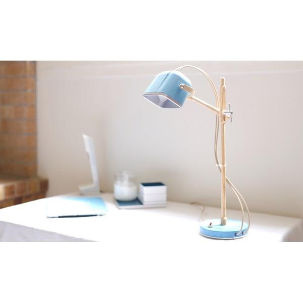 Stolová lampa Mob Wood, modrá