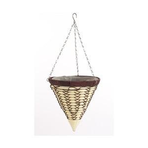 Závesný ratanový kvetináč Cone Luxury