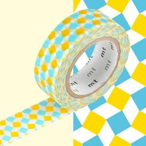 Washi páska Petits carrés Jaune et Bleus