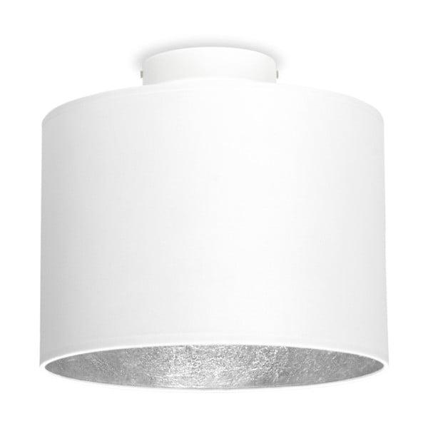 Biele stropné svietidlo s detailom v striebornej farbe Sotto Luce MIKA, Ø25 cm