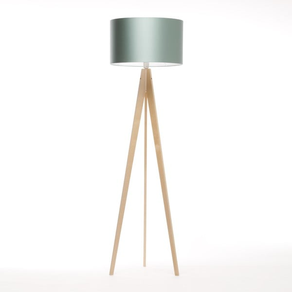Stojacia lampa Artista Birch/Light Green, 125x42 cm