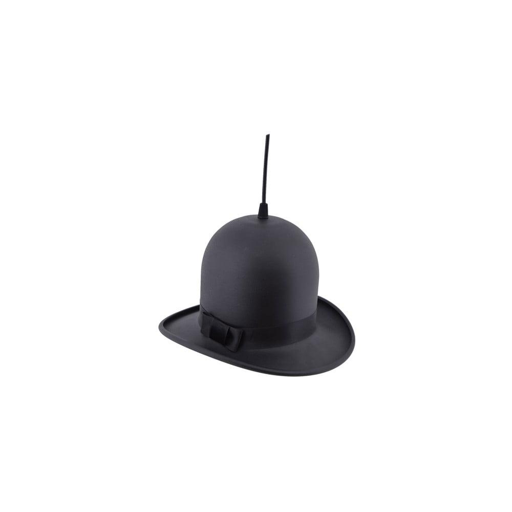 Čierne závesné svietidlo Woman Hat, ⌀ 28 cm
