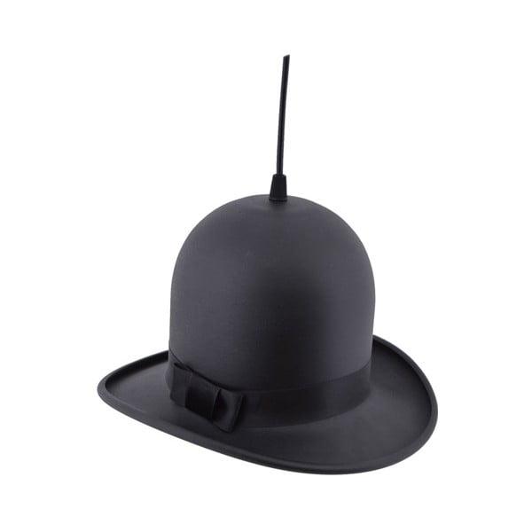 Čierne závesné svietidlo Woman Hat, ⌀28 cm