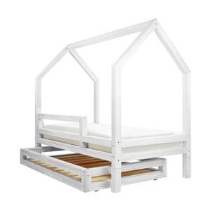 Set bielej zásuvky a 4 prídavných nôh k posteli Benlemi Funny, 80 x 160 cm