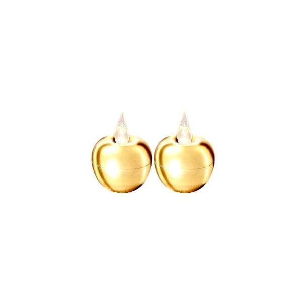 Sada 2 svetelných dekorácií Best Season Apple Gold