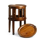 Okrúhly stolík s priehľadným úložným priestorom Moycor