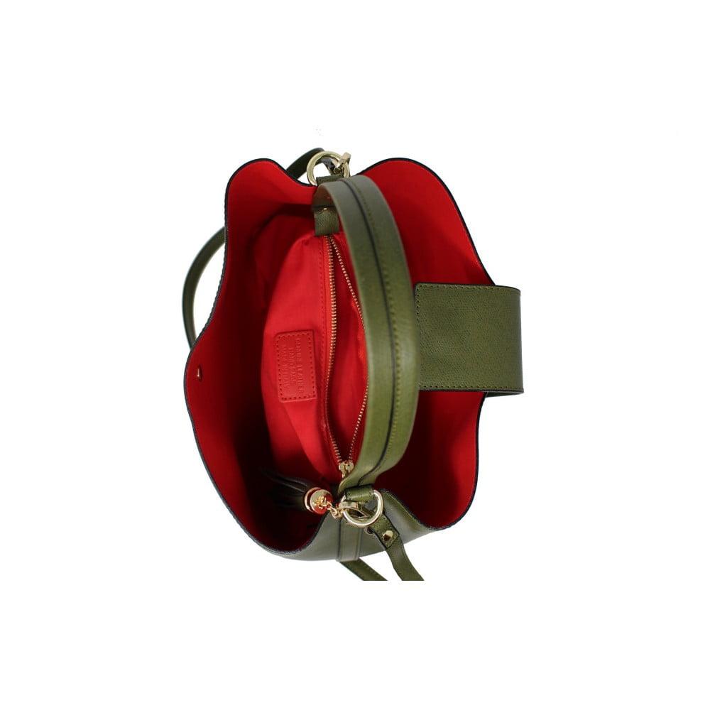 8e03f12439 Zelená kožená kabelka Lampoo Tandora ...