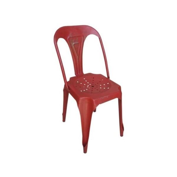 Kovová stolička Chaise Rouge