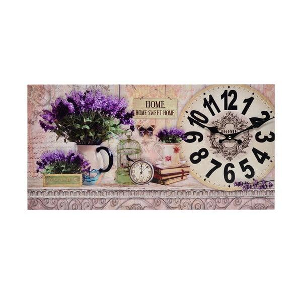 Hodiny na plátne Lavender