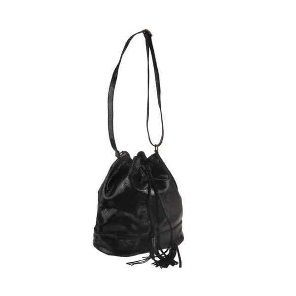 Kožená kabelka Zosca, čierna