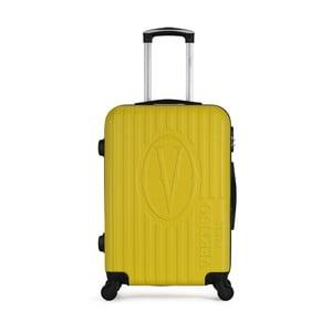 Žltý cestovný kufor na kolieskach VERTIGO Valise Grand Cadenas Integre Malo, 33 × 52 cm