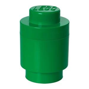 Zelený úložný okrúhly boxík LEGO®