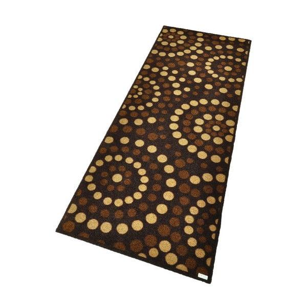 Rohožka Zala Living Dots Brown, 67×180cm