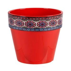 Červený kvetináč Soho And Deco Estampado