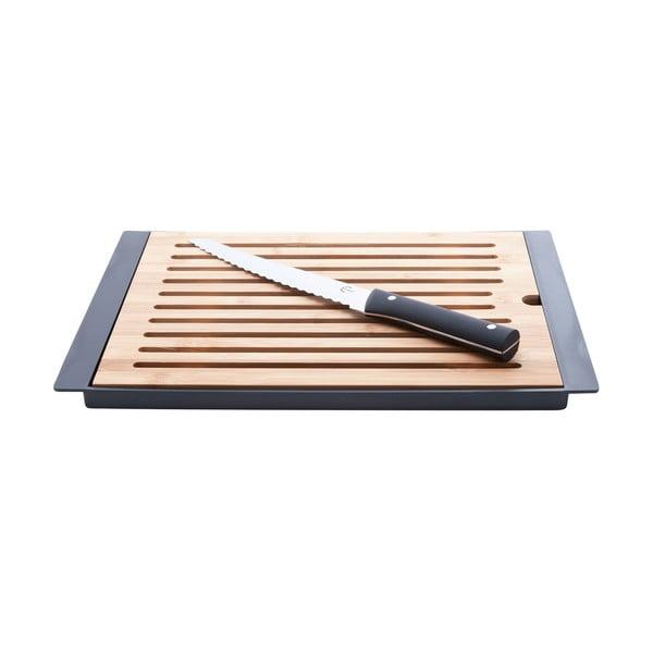 Bambusová doska na krájanie s nožom Cosy&Trendy  Nero, 38 x 27 cm