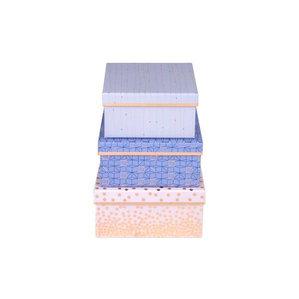 Sada 3 ks štvorcových boxov Tri-Coastal Sky And Glitters