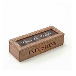 Krabička na čaj Infusion, 24x6 cm