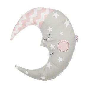 Sivý detský vankúšik s prímesou bavlny Apolena Pillow Toy Moon, 30 x 33 cm