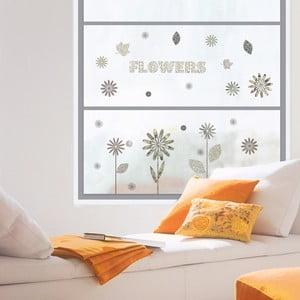 Samolepka na okno Pattern Flowers