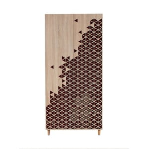 Dvojdverová šatníková skriňa Stil Geometry Red, 90×192 cm