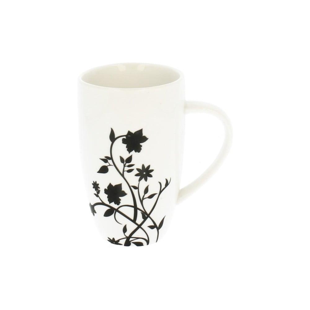 Biely porcelánový hrnček s motívom popínavej kvetiny Duo Gift, 270 ml