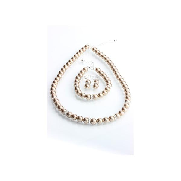Set náušníc, náramku a náhrdelníku Laura Bruni Pearl Mix
