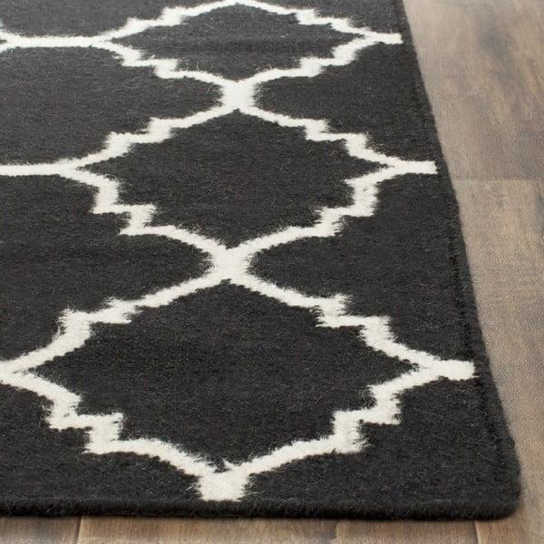 Vlnený koberec Darien Dark, 121x182 cm