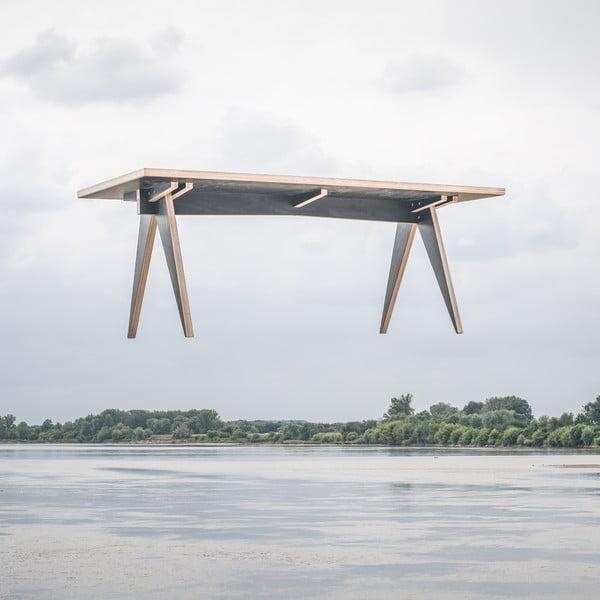 Jedálenský/pracovný stôl ST, dĺžka 180 cm, čierny