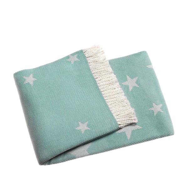 Modrá deka Euromant Stars, 140x180cm