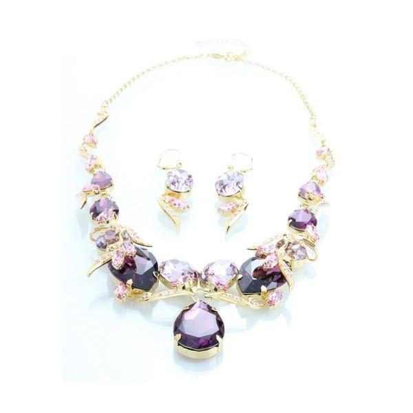Set náušníc a náhrdelníka so Swarovski Elements Laura Bruni Pearl