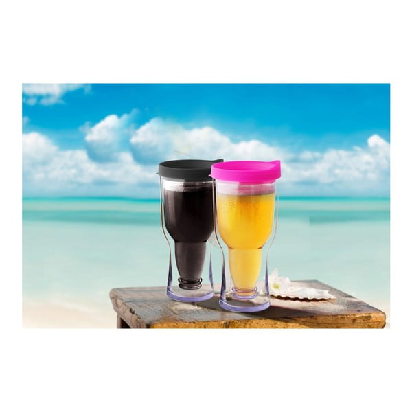 Nezničiteľný pohár na pivo Brew2Go, čierny